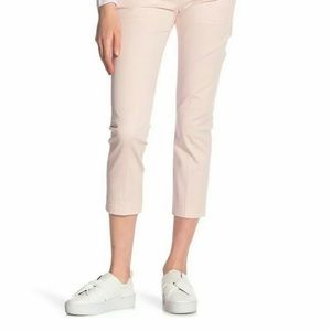 Vince Cream Color Coin Pocket Cropped Chino Pants